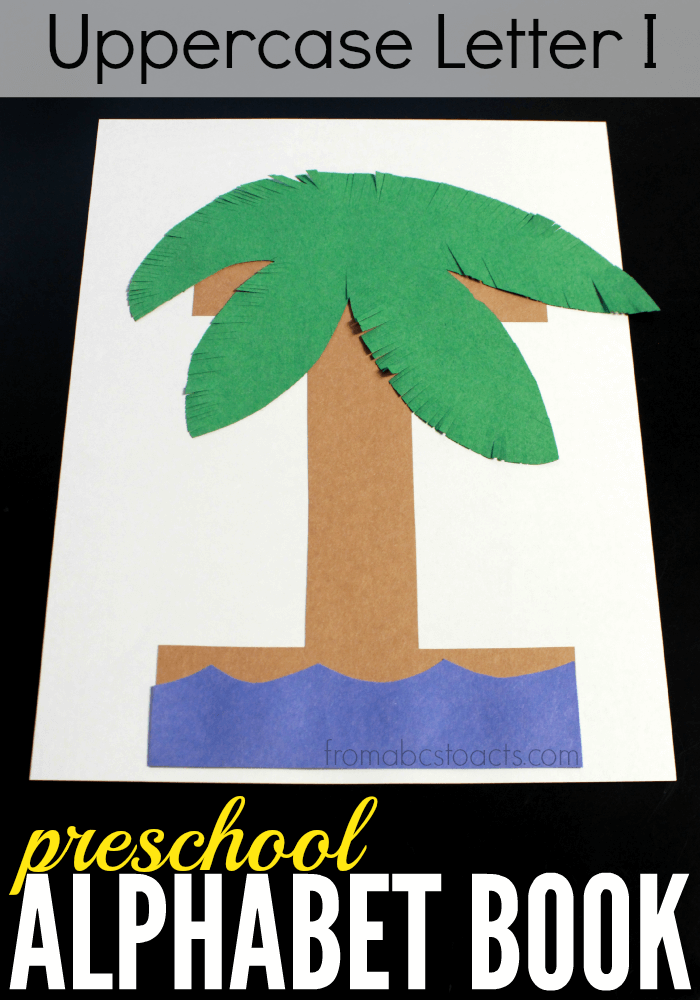 Build your own letter I island with your preschooler and make it your newest addition to your preschool alphabet book!