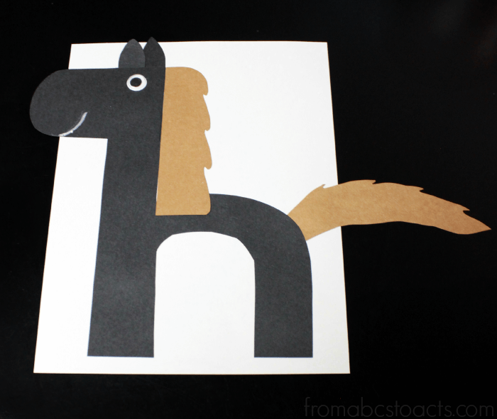 Letter Crafts for Kids - Lowercase Letter H Horse