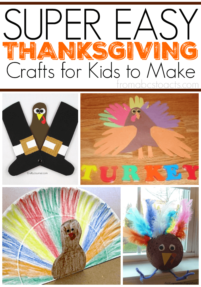 Get the kids excited for turkey day with these super easy Thanksgiving crafts from Mom's Library!