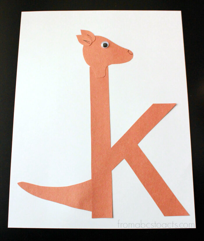 Alphabet Book Lowercase K Craft for Preschoolers