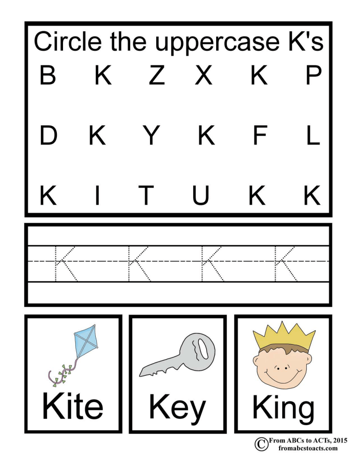 Preschool alphabet book uppercase letter k from abcs to acts alphabet book uppercase k spiritdancerdesigns Image collections