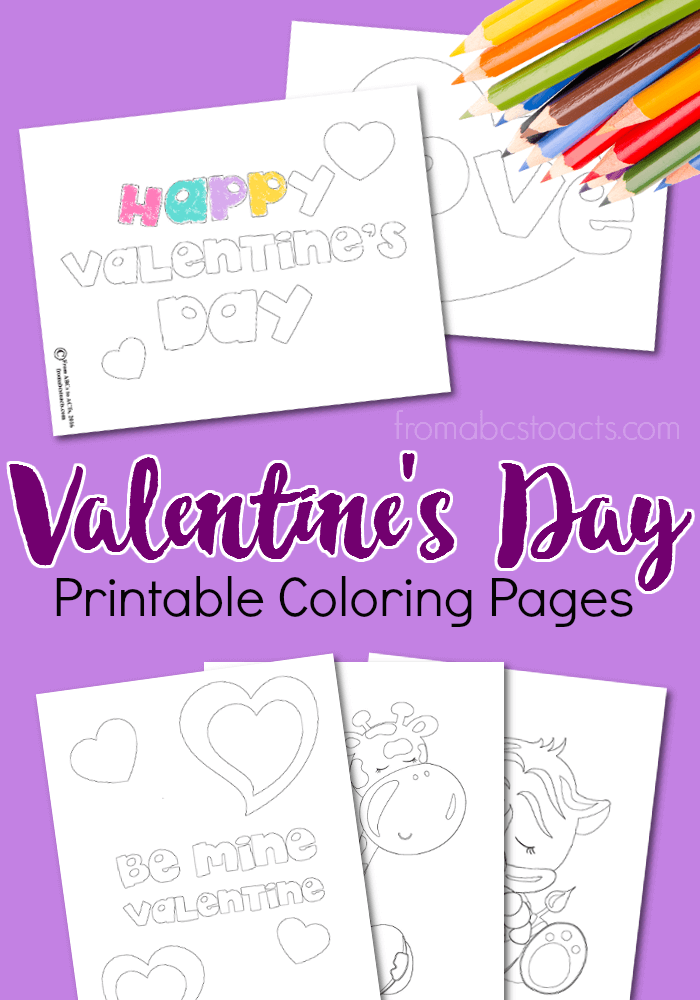 image relating to Printable Valentine Coloring Page named Printable Valentine Coloring Internet pages Versus ABCs in the direction of Functions