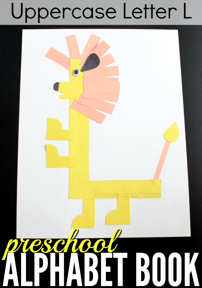 Working on letter of the week activities with your preschooler? This uppercase letter L lion would make a great addition!