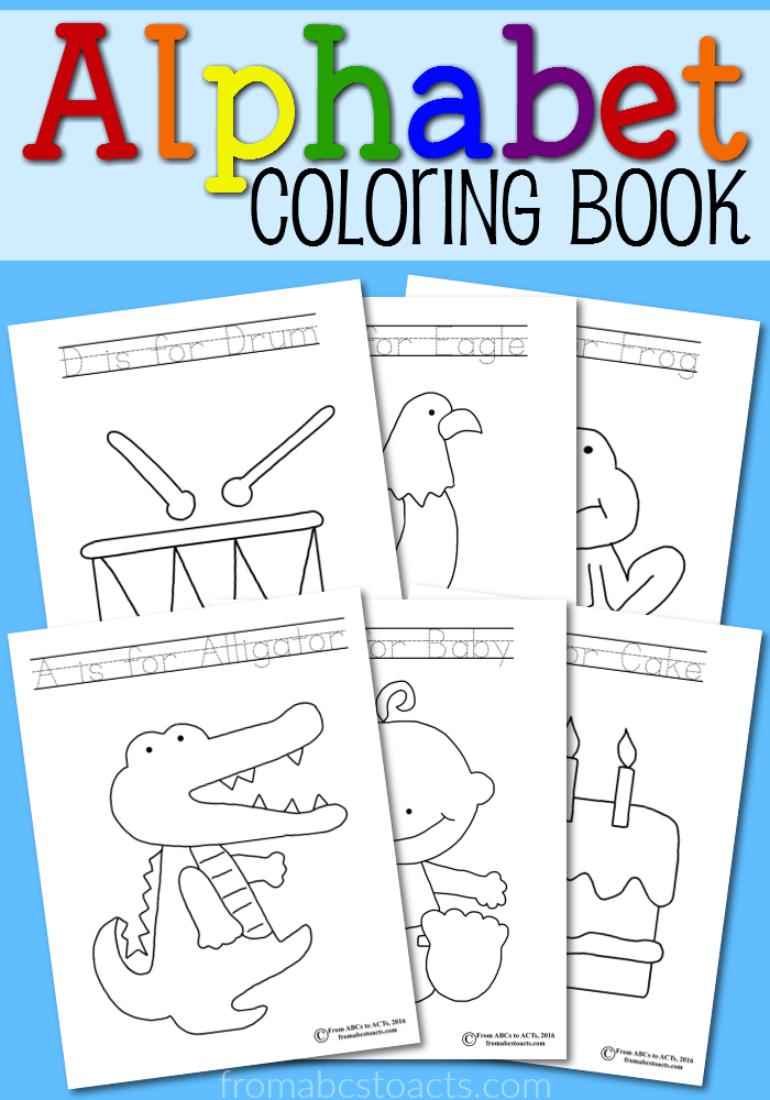 Printable alphabet coloring book from abcs to acts Coloring book for kindergarten pdf