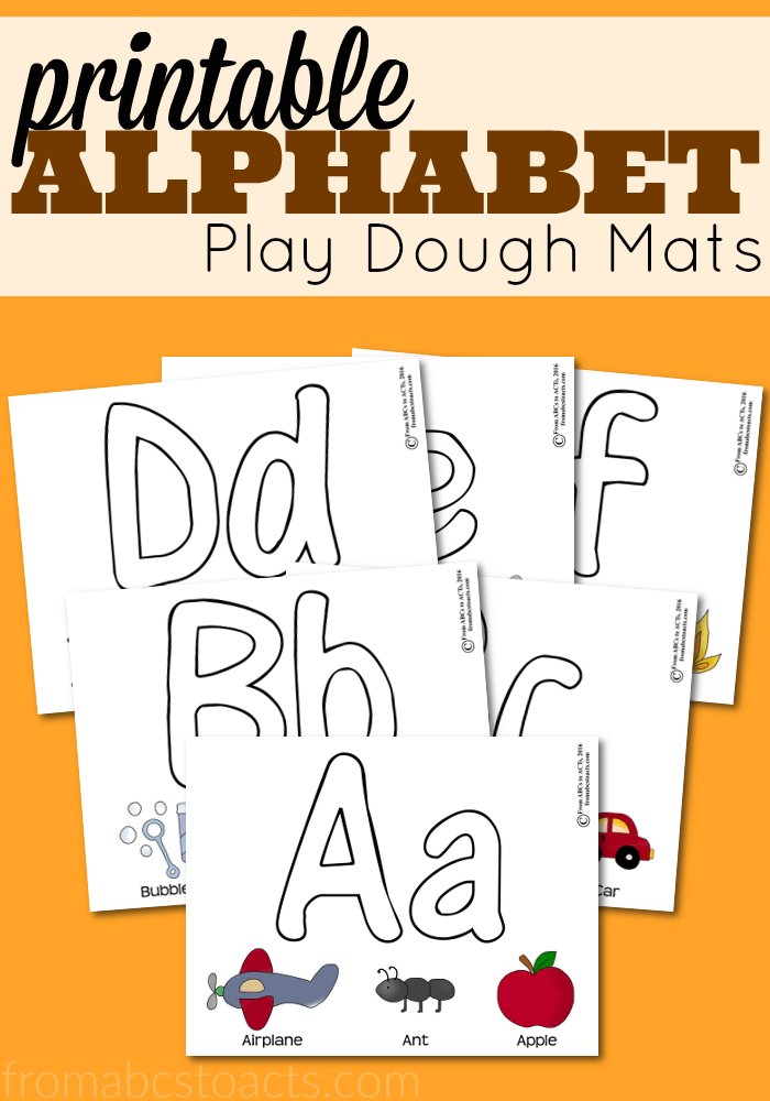 Make Letters With Playdough Activity