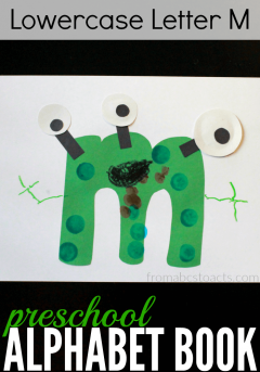 Learn all about the lowercase letter M with this adorable monster craft for preschoolers!
