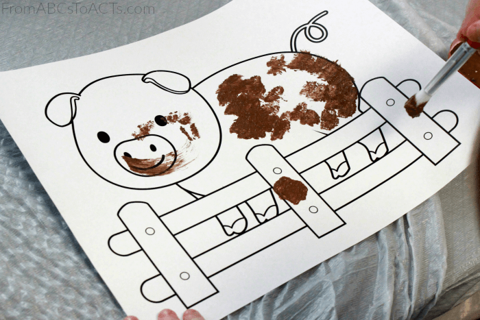 Farm Animal Theme Unit for Preschoolers - Farm Crafts for Kids