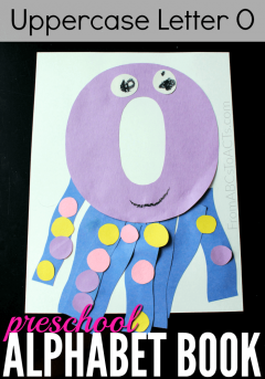 Have a preschooler working on the letter O? What better way to learn it than by making an adorable uppercase letter O octopus?