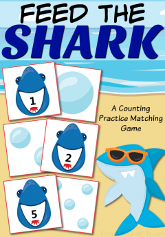 Have a little one obsessed with sharks? This printable counting practice matching game is a great way to practice those early math skills with your toddler or preschooler and is absolutely perfect for the hot summer months!