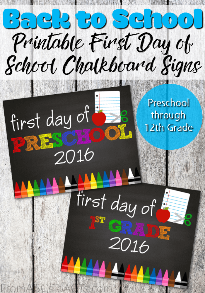 Are first day of school pictures a tradition in your house? If not, this school year is the perfect time to make them one! With these printable first day of school chalkboard signs, you'll have the best first day pictures ever!