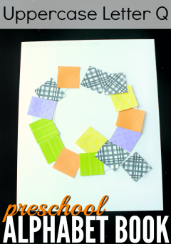 What begins with the letter Q? Q is for quilt! This is such a fun and easy alphabet craft for preschoolers to make!