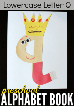 Perfect for learning about that lowercase letter Q, this queen craft for preschoolers is super easy to throw together and a whole lot of fun!