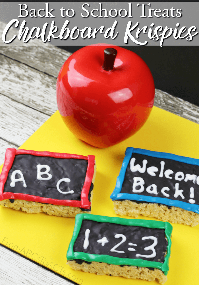 Make heading back to school a little sweeter this year with these delicious chalkboard rice krispie treats! The kids can even help you make them!