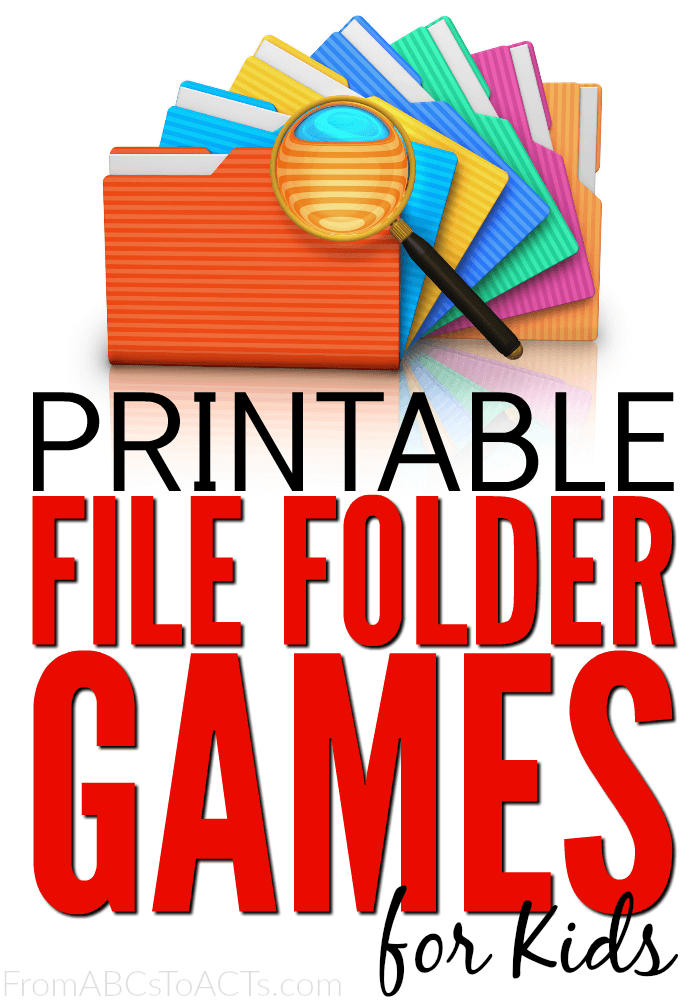 75+ Free Printable File Folder Games for Kids | From ABCs to ACTs