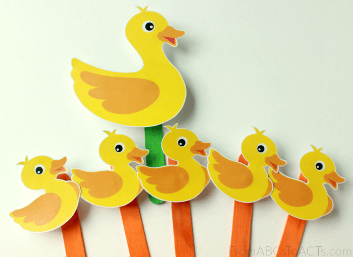 5 Little Ducks Magnetic Puppets for Preschoolers