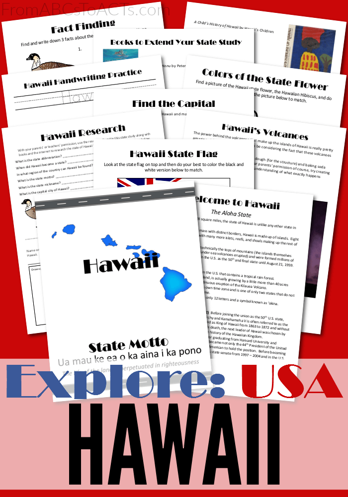 Did you know that Hawaii used to be ruled by a monarchy? Well, you can learn all about that and more with this free state study pack!
