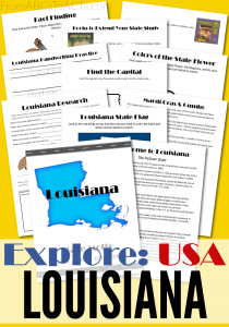 From Cajun spices to Mardi Gras, this week's state unit study is all about the great state of Louisiana!