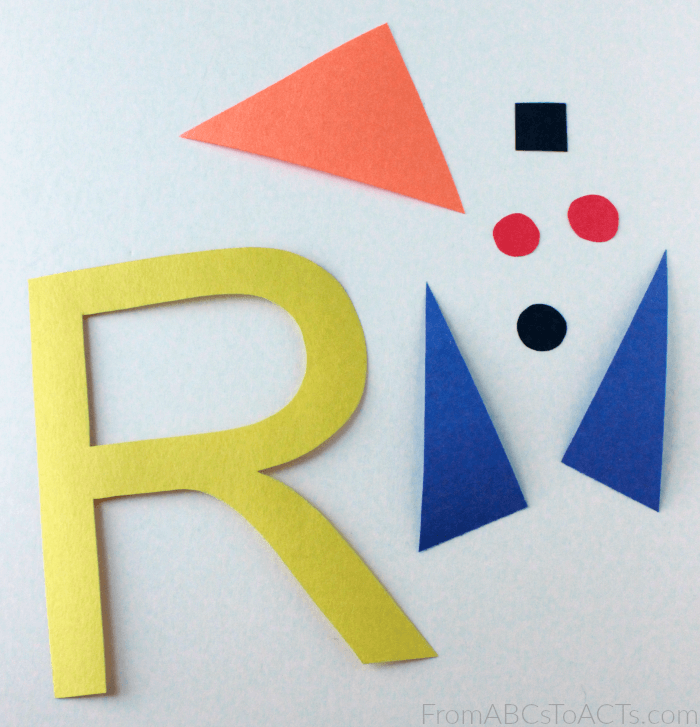 Letter R Rocket Craft for Preschoolers and Kindergartners