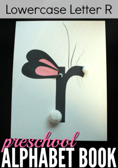 Help your preschooler learn the lowercase letter R with an adorable rabbit craft!