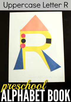 Crafting your way through the alphabet is such an easy way to get your preschooler excited about learning letters and this uppercase letter R rocket is such a fun way to do it!