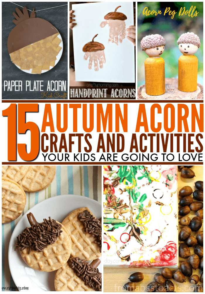 Embrace the changing of the seasons with all of these fun fall acorn crafts and activities for kids!