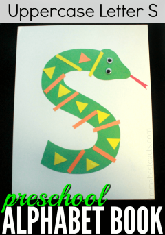 Learn the uppercase letter S with your preschooler by making this adorable letter S snake!