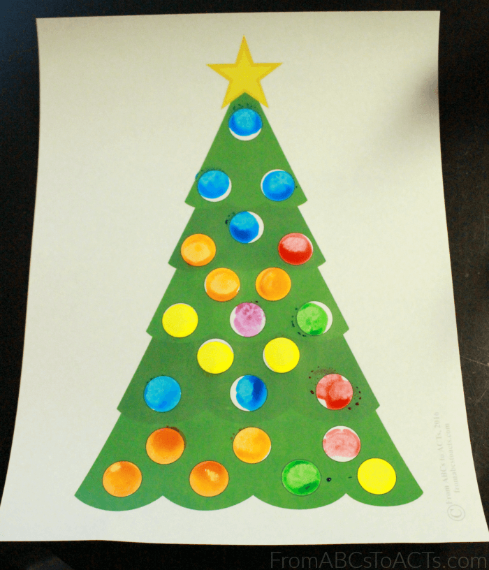 Do-A-Dot Marker Christmas Tree Game