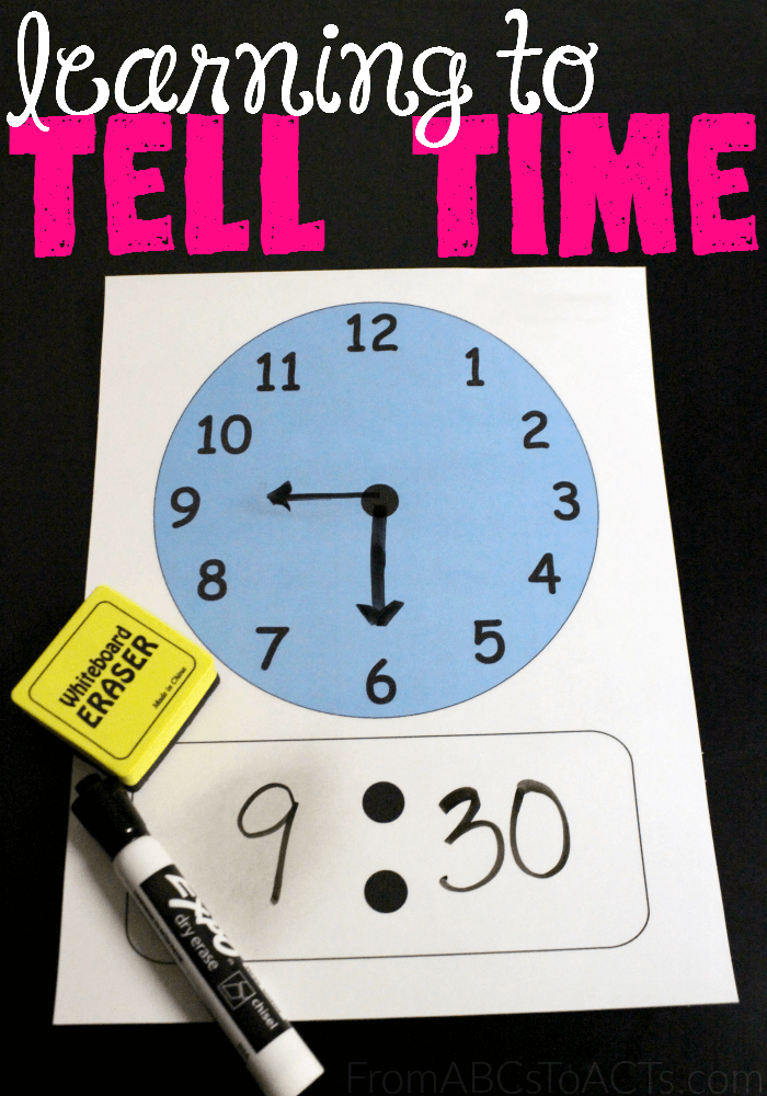 Learning to tell time isn't always easy but with a little bit of practice, your child will be telling time like a pro before you know it!