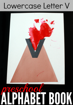 Make learning the lowercase letter V explosive with this fun volcano craft for kids!