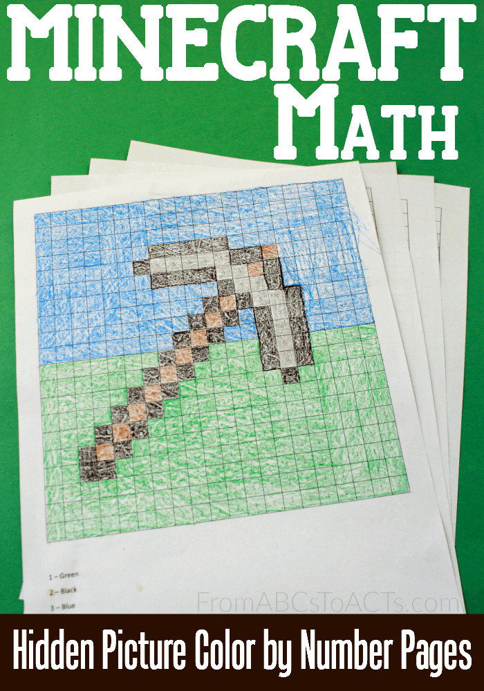 combine your kids love of minecraft with a little extra math practice there are