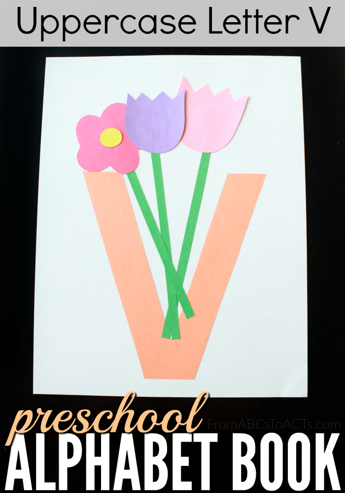 letter v craft preschool alphabet book uppercase letter v from abcs to 23287