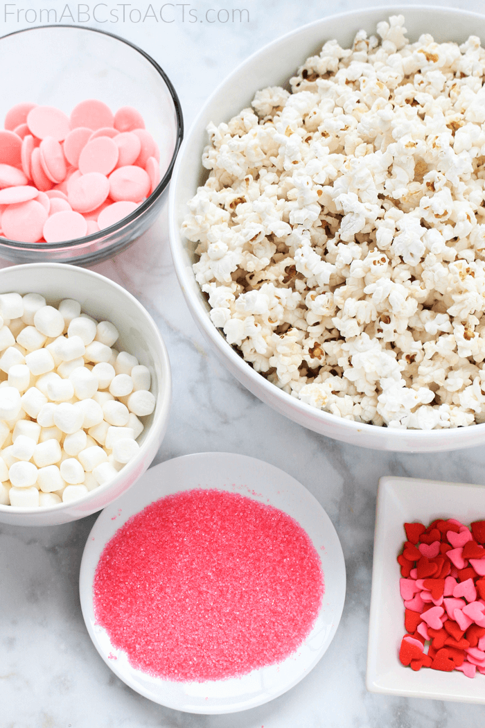 Valentine's Day Popcorn Recipe for Kids