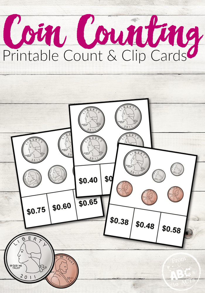 Practice counting change with these free printable coin counting clip cards!  Perfect for both practice and review!