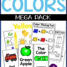 With over 160 activity pages, teaching your toddler or preschooler their colors is both fun and easy with this learning colors mega pack!