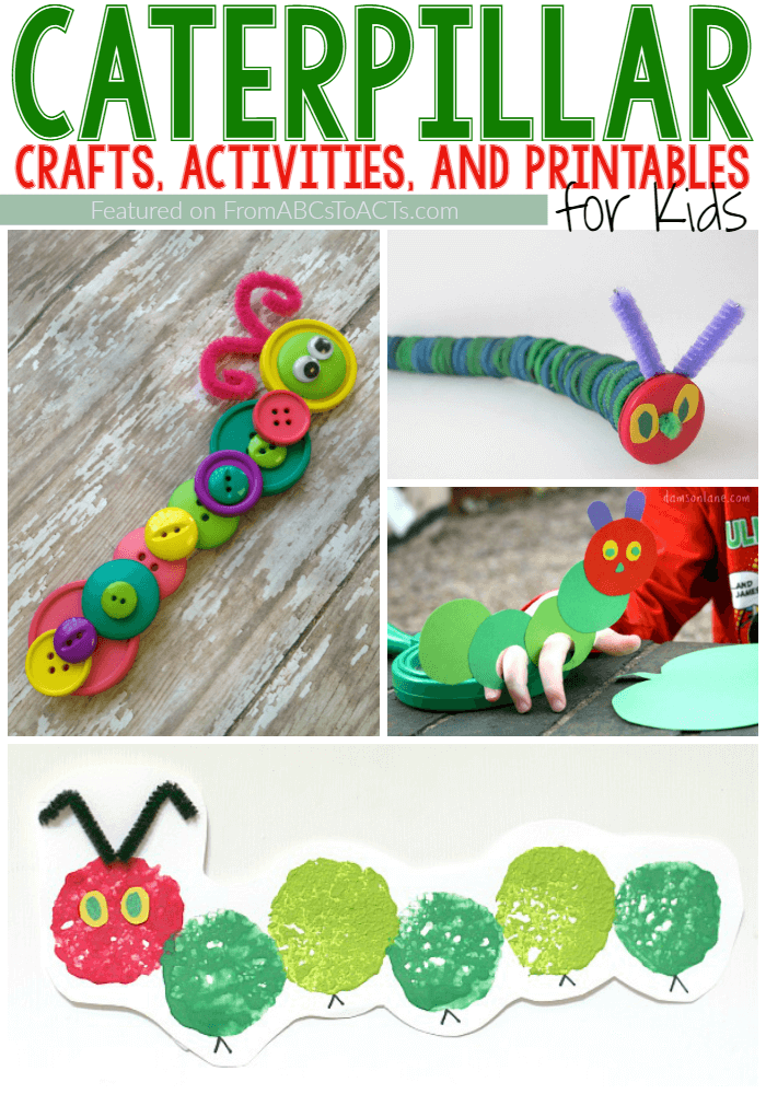 Bring The Very Hungry Caterpillar to life with these fun caterpillar crafts and activities for kids!