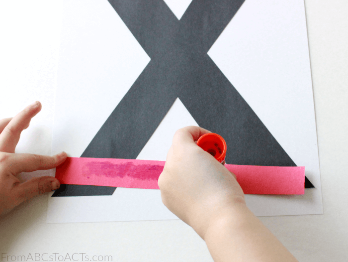 Letter X Alphabet Book Craft for Preschoolers
