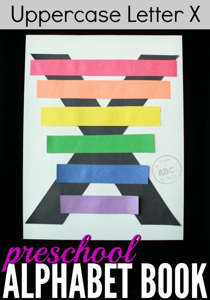 Preschool Alphabet Book  Uppercase Letter X