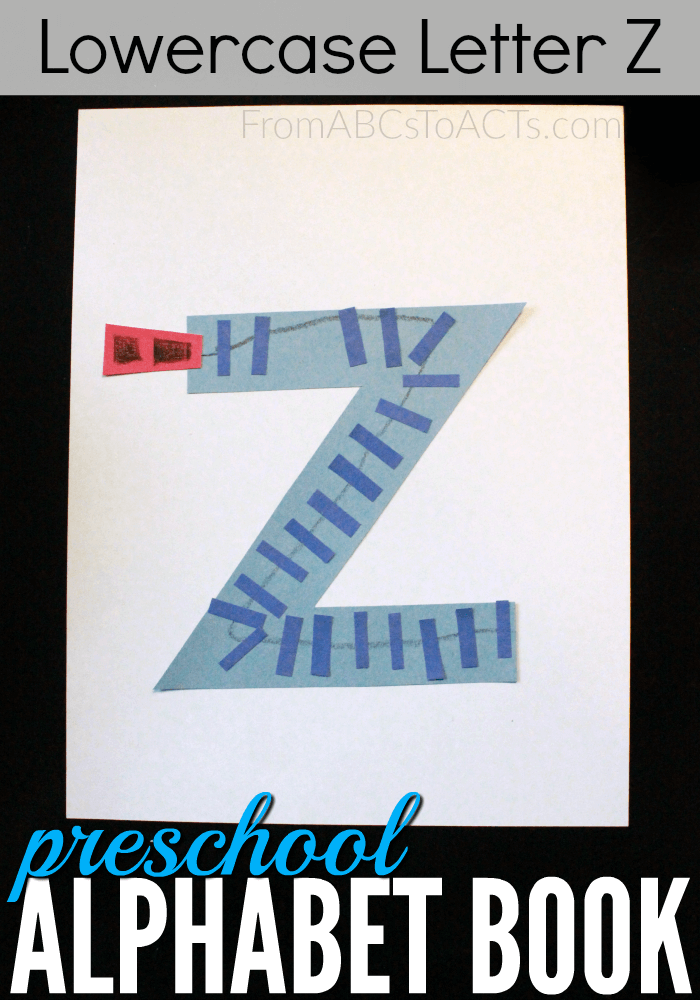Z is for zipper! Teach your preschooler all about the letter Z with this fun construction paper alphabet book craft!