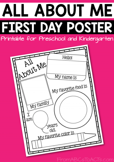 Handy image regarding all about me printable preschool