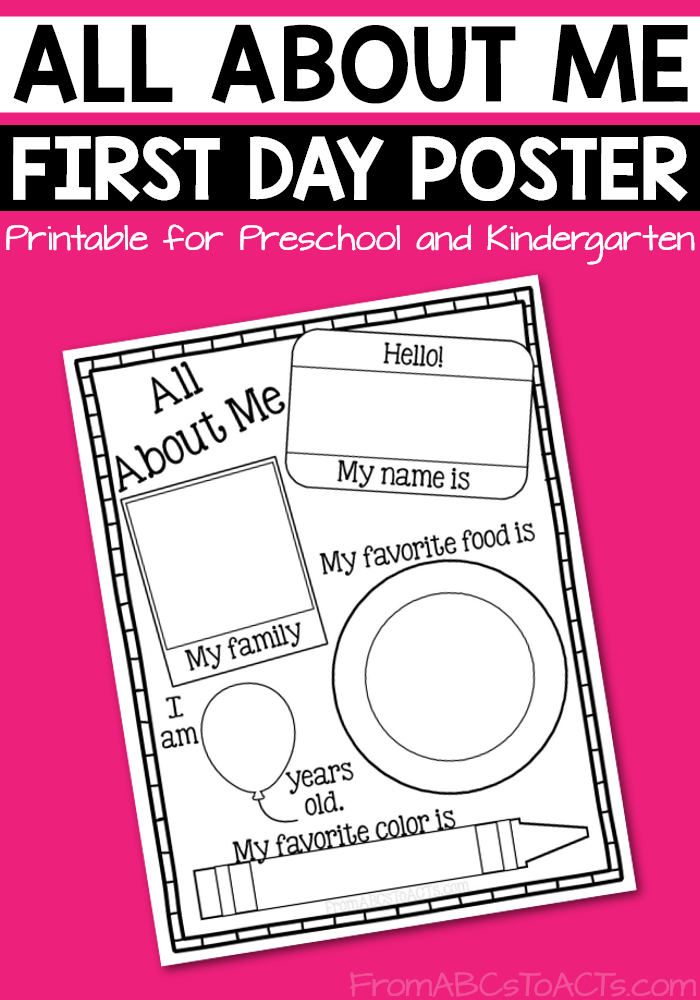 Printable All About Me Poster | From ABCs to ACTs