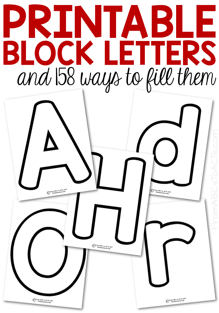 Make teaching your preschooler the letters of the alphabet fun and hands-on with these printable block letters! Both upper and lowercase letters included!