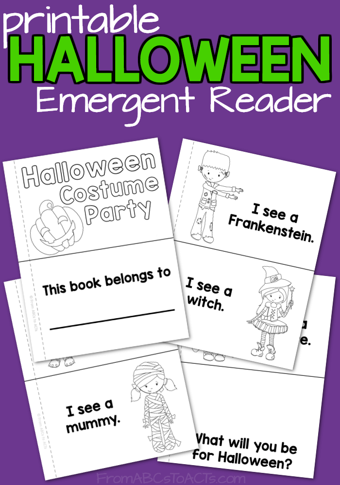 Witches, werewolves, vampires, and more! Add a bit of Halloween fun to your kindergartner's reading practice this fall with this printable costume party emergent reader!