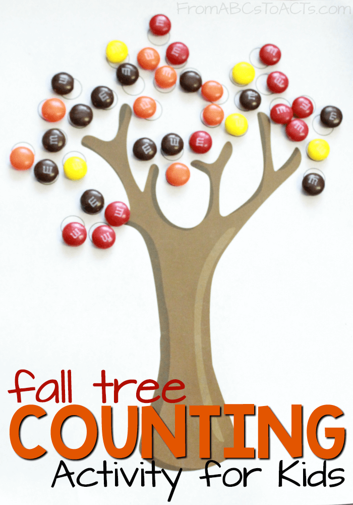Math practice can be super sweet! Work on counting and colors with this printable fall roll and cover activity for kids!