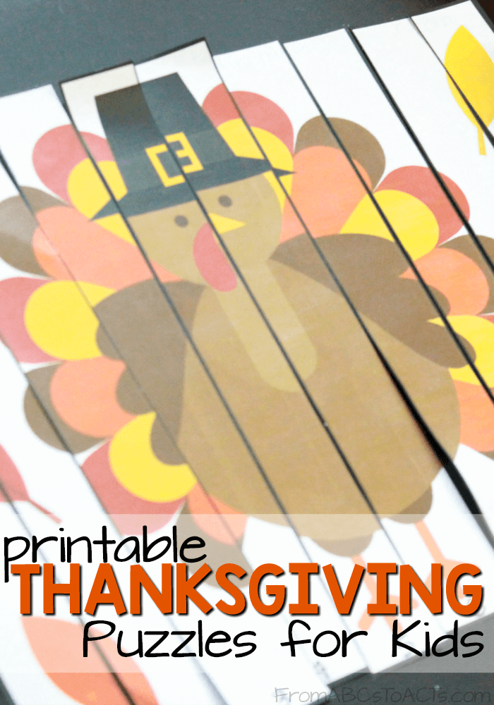 Work on number sequencing this Thanksgiving with these printable fall themed puzzles for preschoolers and kindergartners!