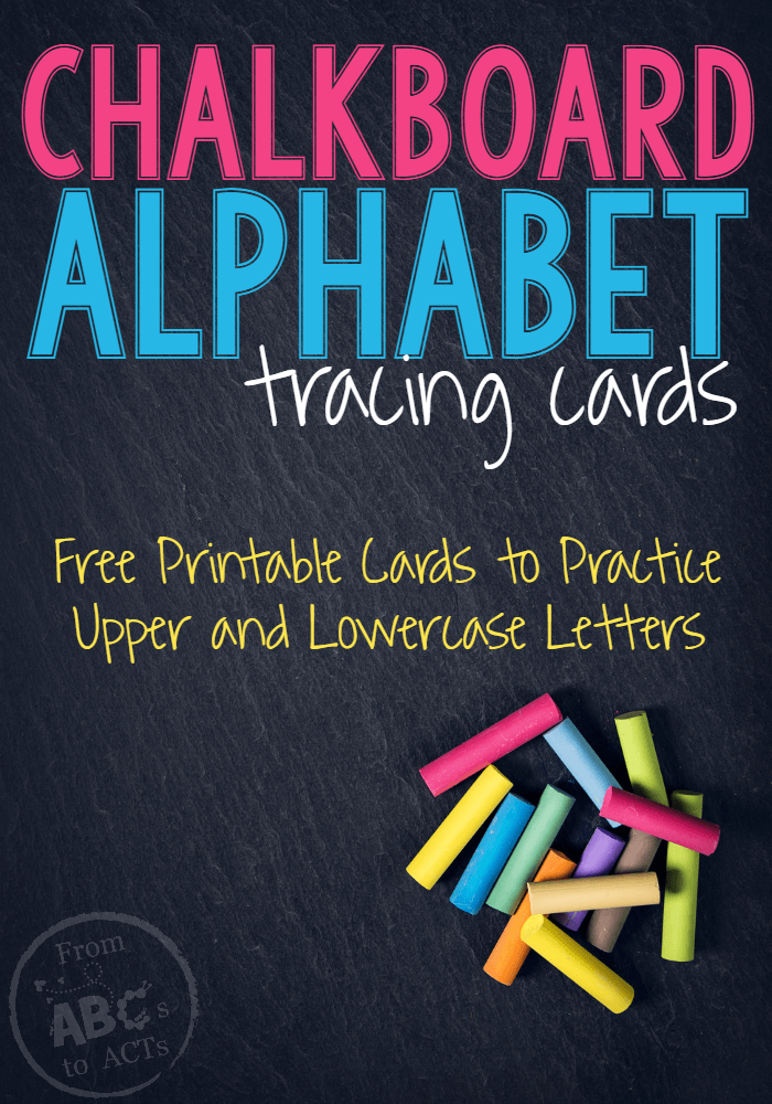 Gearing up for back to school? These chalkboard alphabet tracing cards are perfect for practicing letter formation in preschool and kindergarten! #alphabetactivities #letterformation #lettertracing #preschool