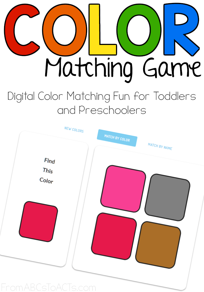 Online Color Matching Game for Kids | From ABCs to ACTs