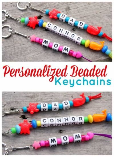 Personalized Keychains with Pony Beads