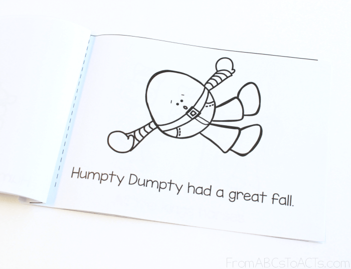 graphic about Humpty Dumpty Printable identify Humpty Dumpty - Printable Nursery Rhyme Ebook Against ABCs in direction of Functions