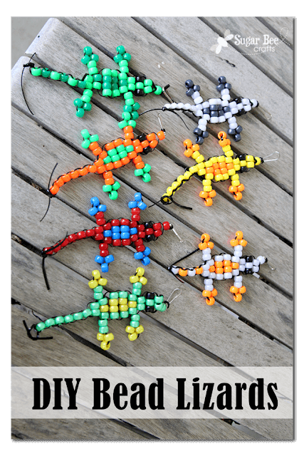 Pony Bead Lizard Craft for Kids