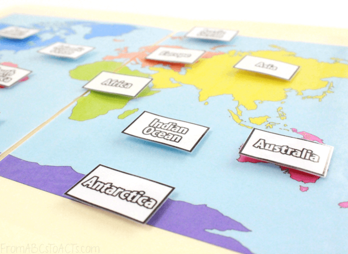 Continents and Oceans Geography Game for Kids